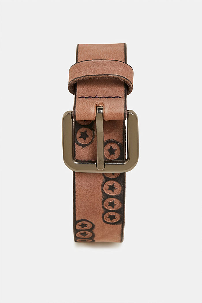 Belt with stars, made of leather