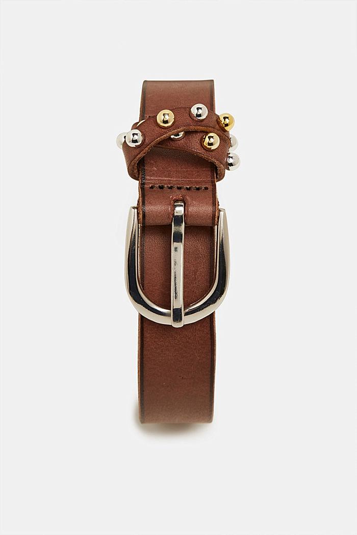 Leather belt, BROWN, detail image number 0