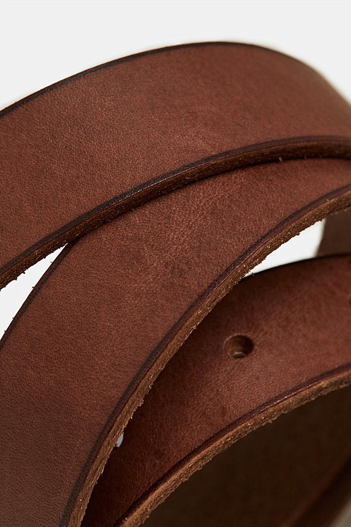 Leather belt, BROWN, detail image number 1