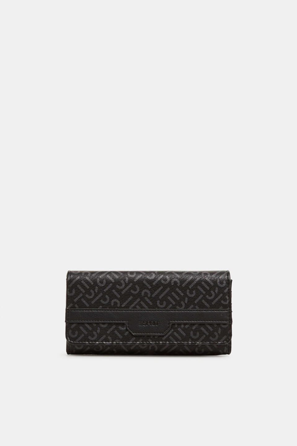 Esprit - Wallet with a monogram print, made of faux leather