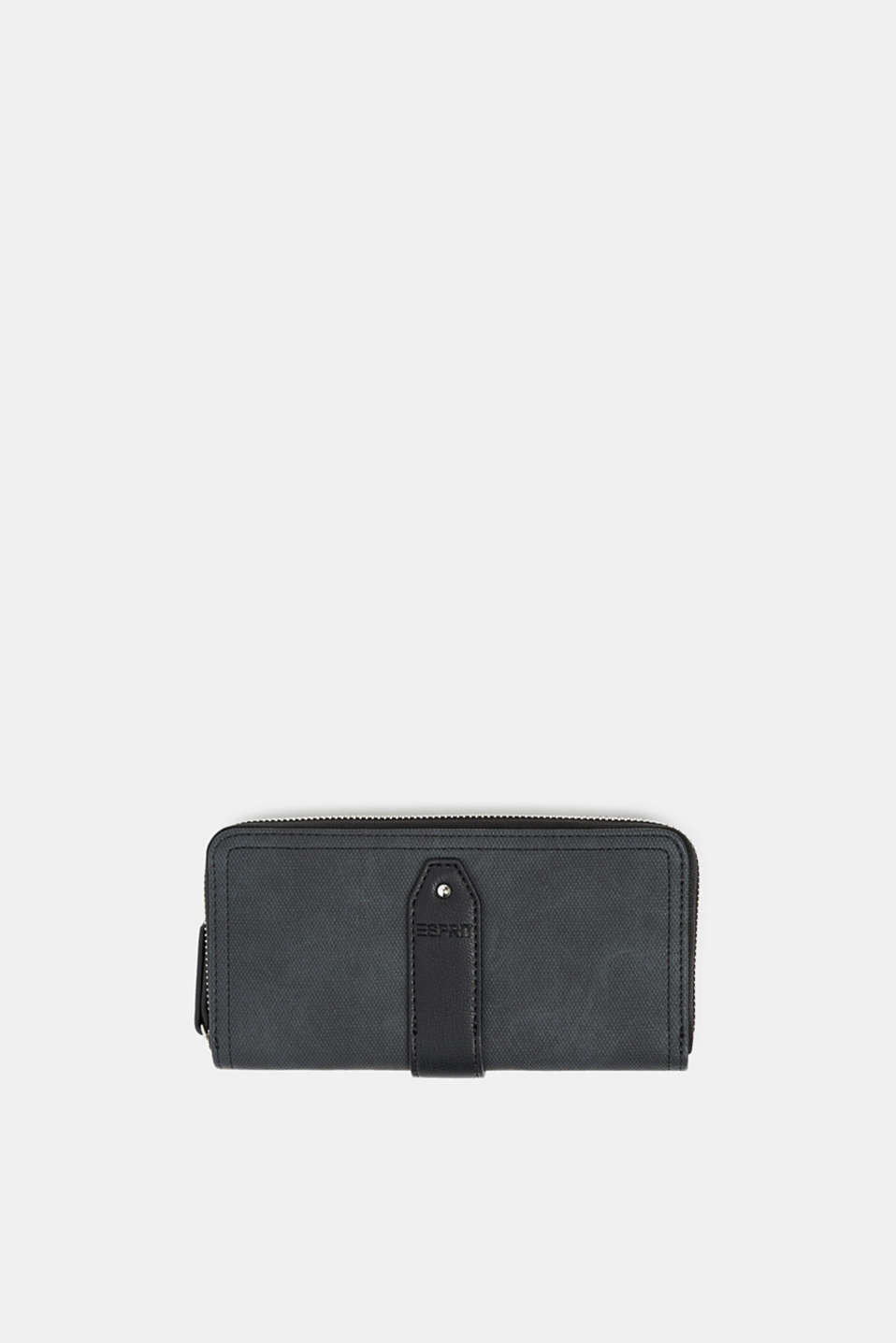 Faux leather purse, BLACK, detail image number 0