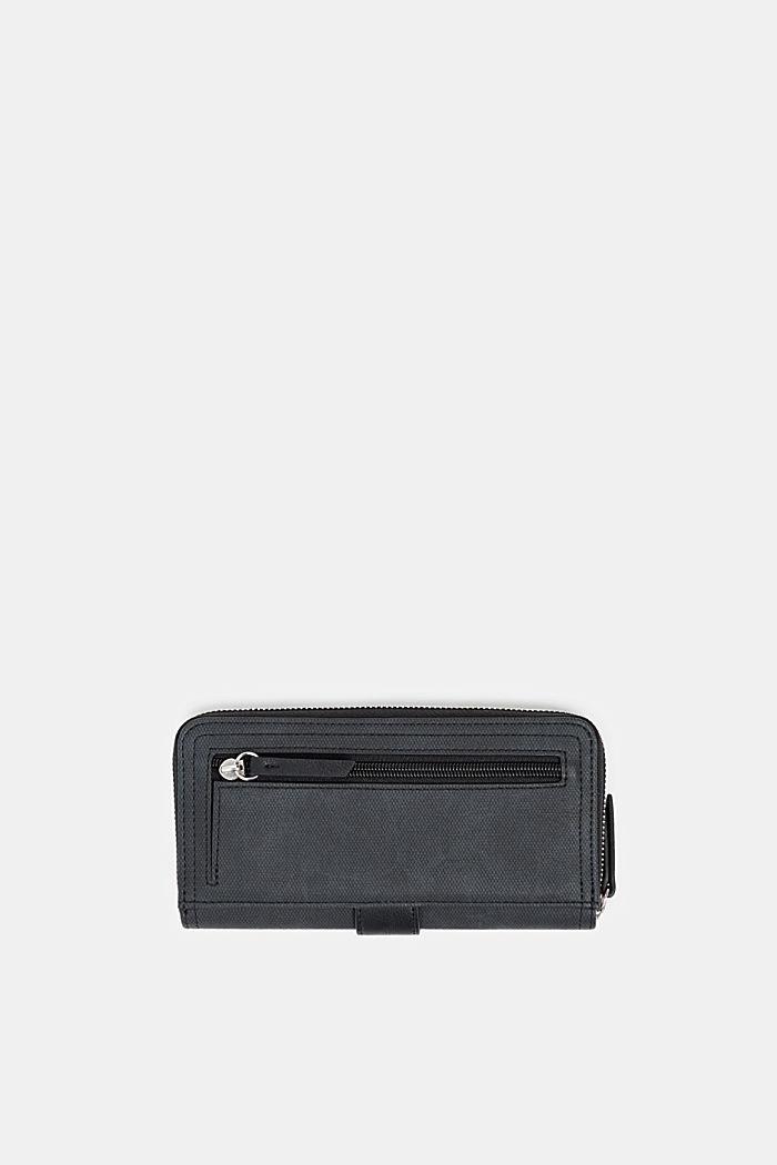 Imitatieleren portemonnee, BLACK, detail image number 2