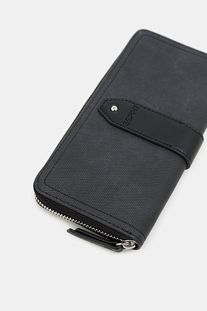 Imitatieleren portemonnee, BLACK, detail image number 1