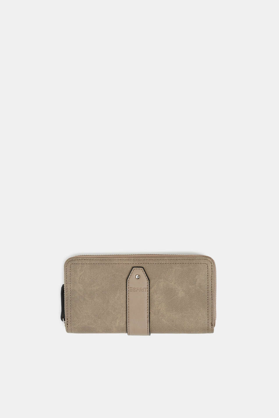 Faux leather purse, TAUPE, detail image number 0