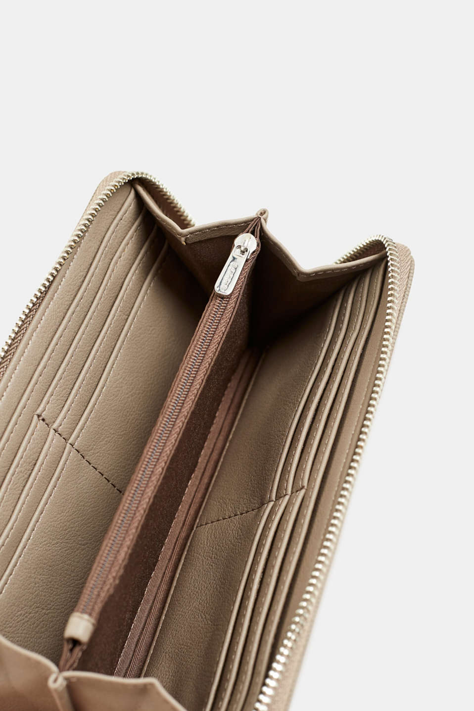 Faux leather purse, TAUPE, detail image number 3