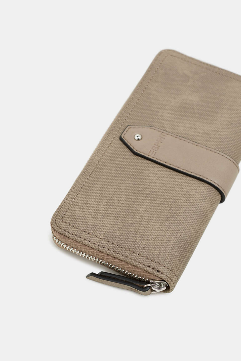 Faux leather purse, TAUPE, detail image number 1