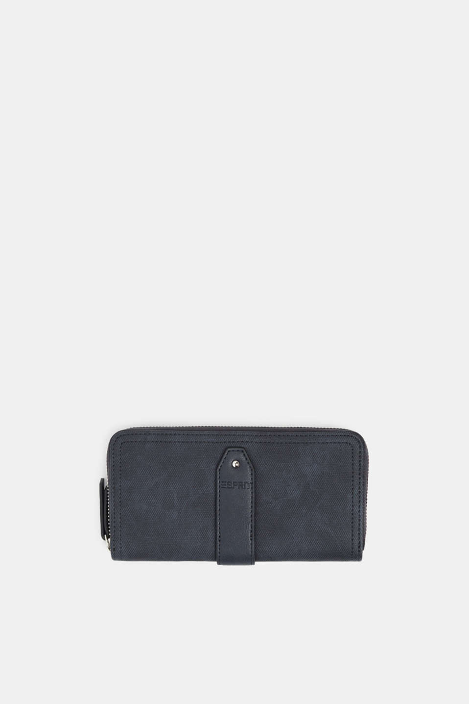 Faux leather purse, NAVY, detail image number 0