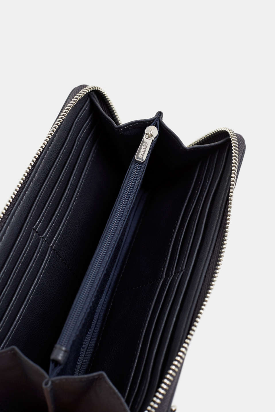 Faux leather purse, NAVY, detail image number 3
