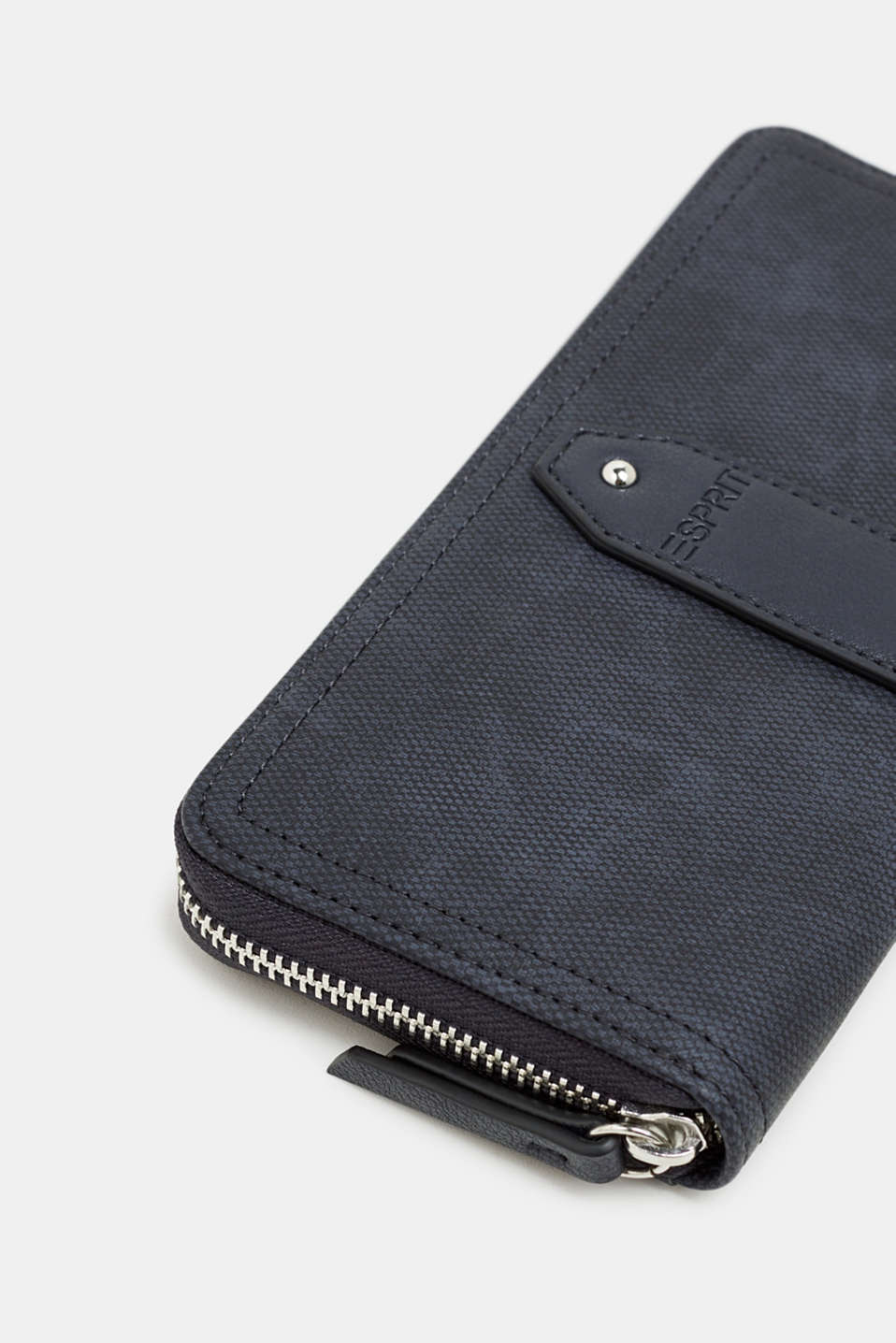 Faux leather purse, NAVY, detail image number 1