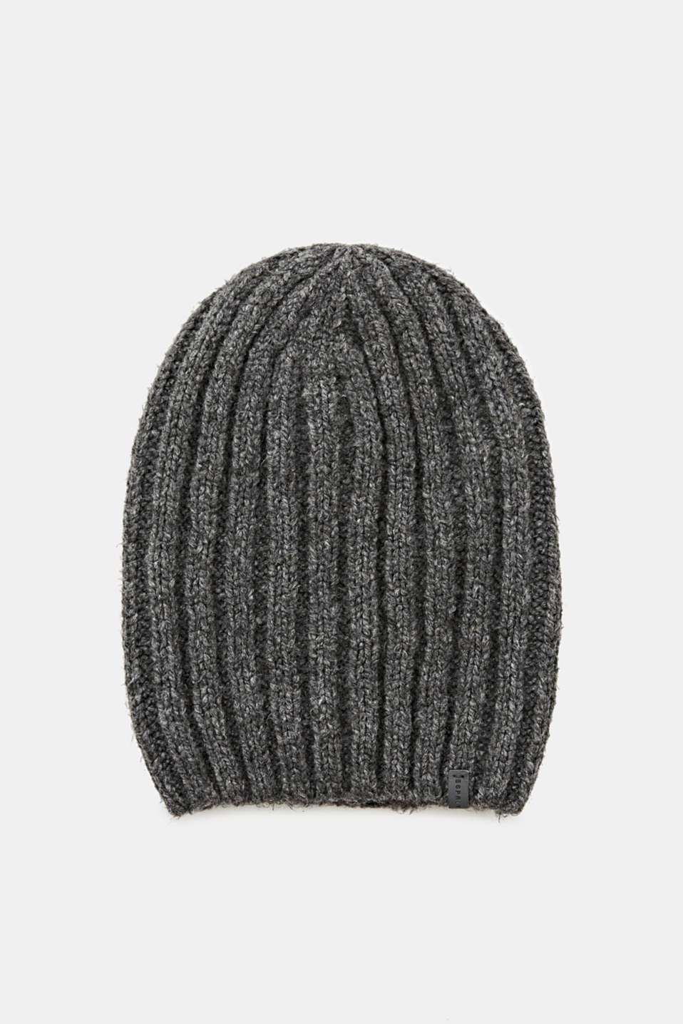 Esprit - Beanie with a wide, ribbed texture