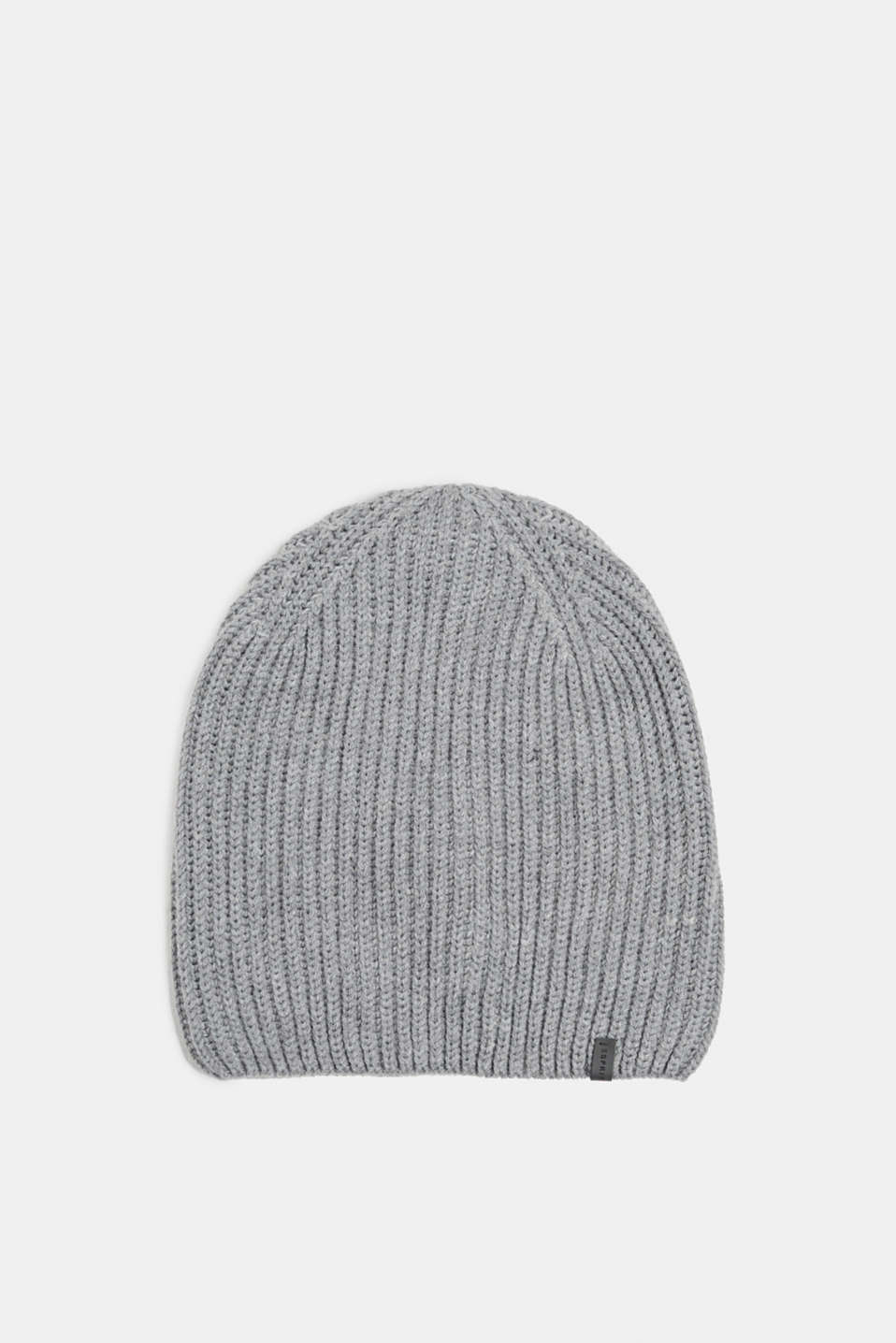 Esprit - With wool: Rib knit beanie