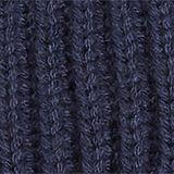 With wool: Rib knit beanie, NAVY, swatch