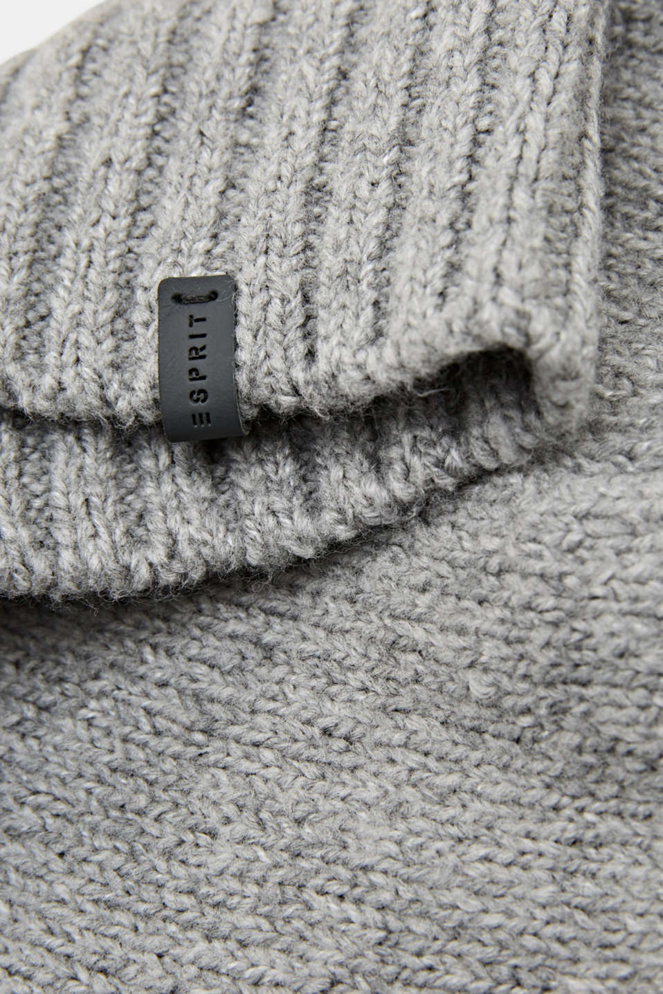 Beanie made of soft blended yarn, LIGHT GREY, detail image number 1