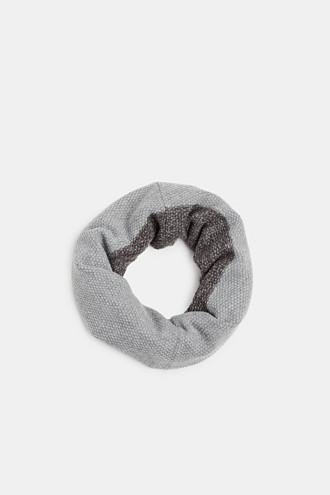 Textured knit snood