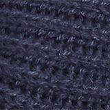 Wool blend: ribbed knit scarf, NAVY, swatch