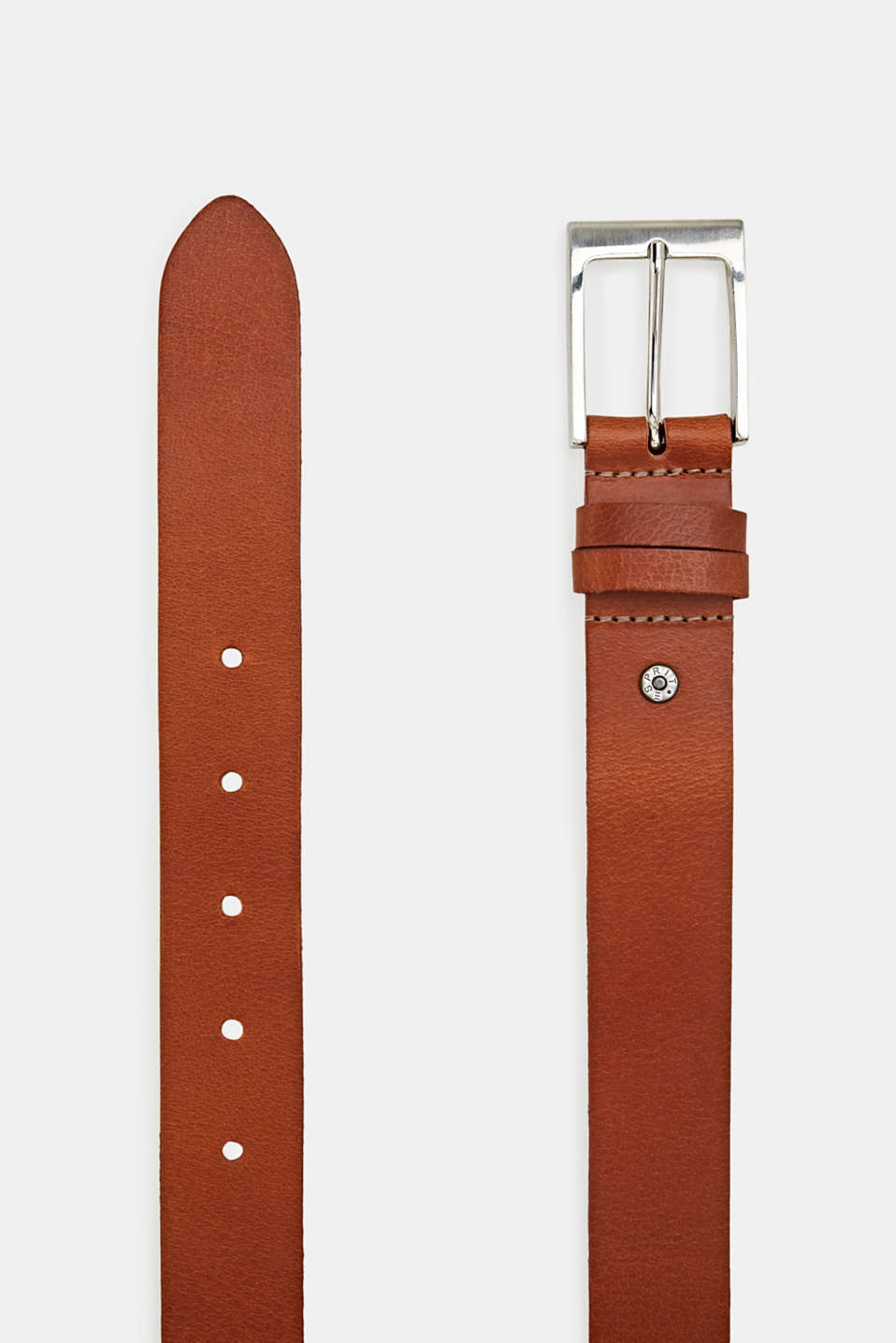 Leather belt, RUST BROWN, detail image number 1