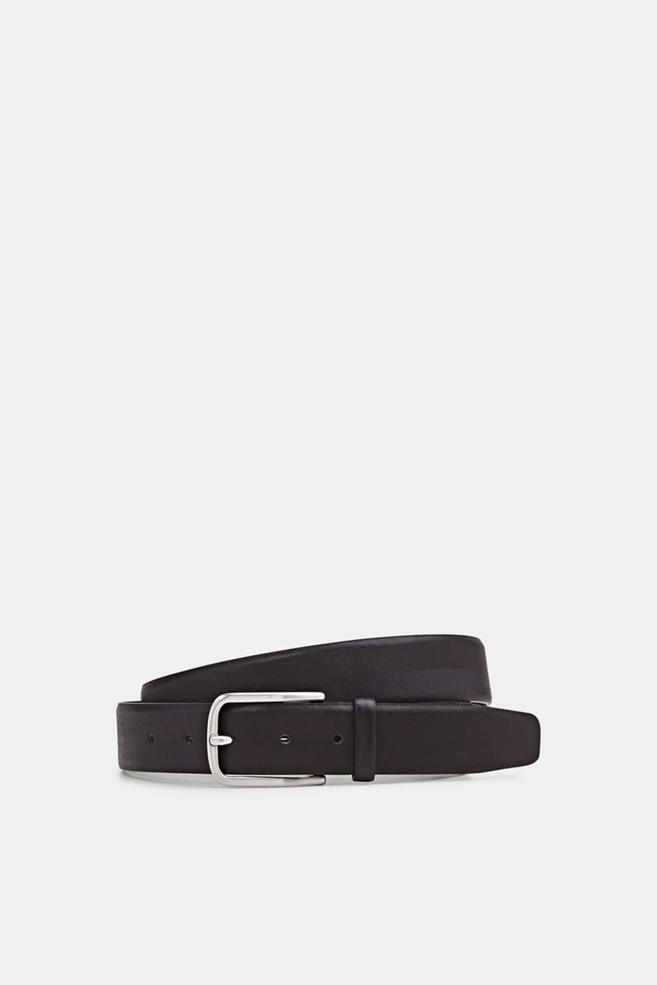 Esprit - Belt with a herringbone texture, made of leather