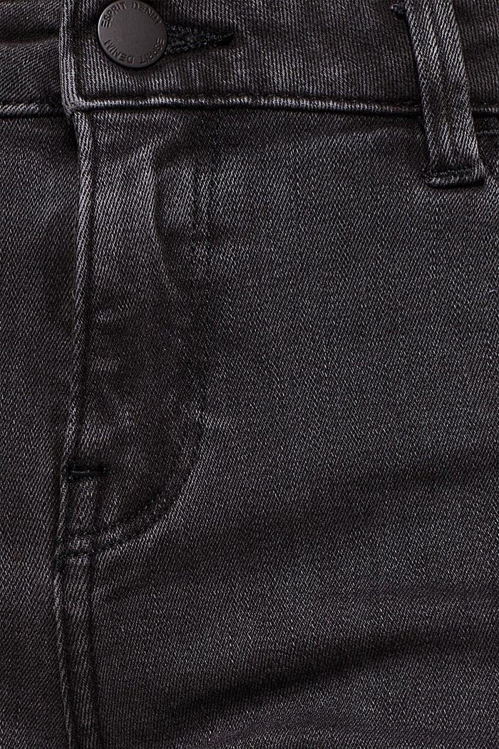 Super stretchy jeans with velvet ribbon, BLACK DARK WASHED, detail image number 4