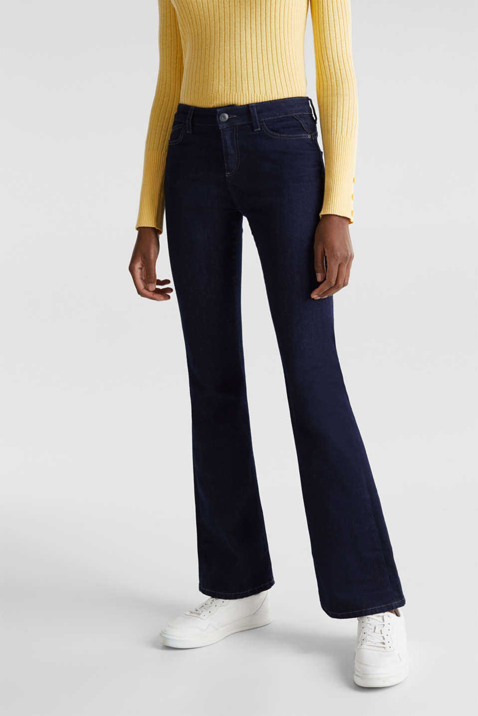 Esprit - Shaping-jeans med bootcut