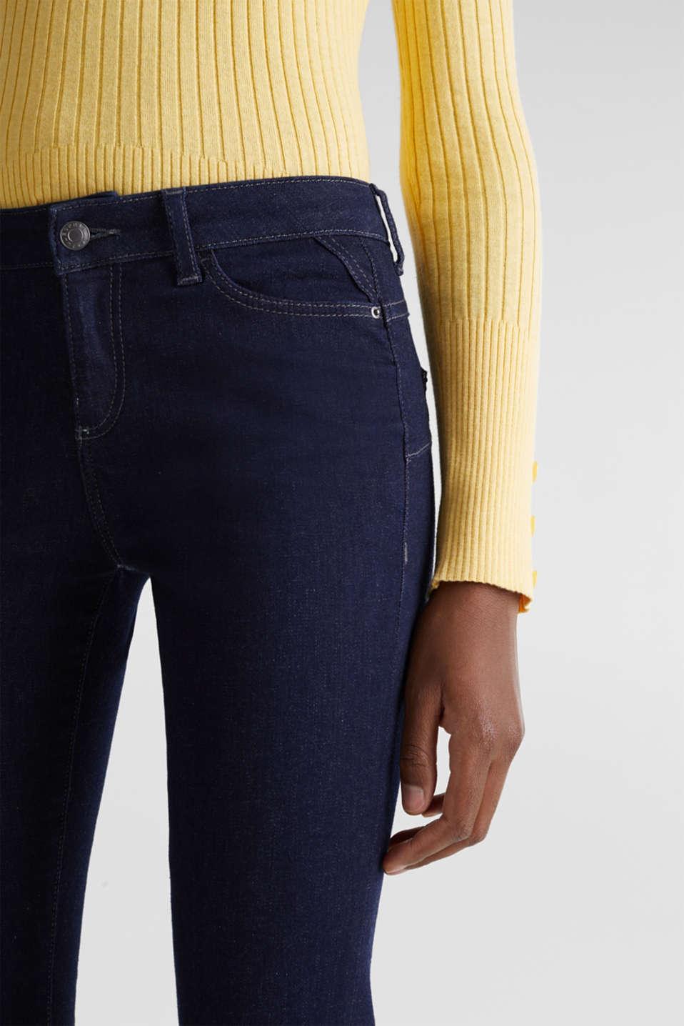 Shaping jeans in dark denim, BLUE RINSE, detail image number 2