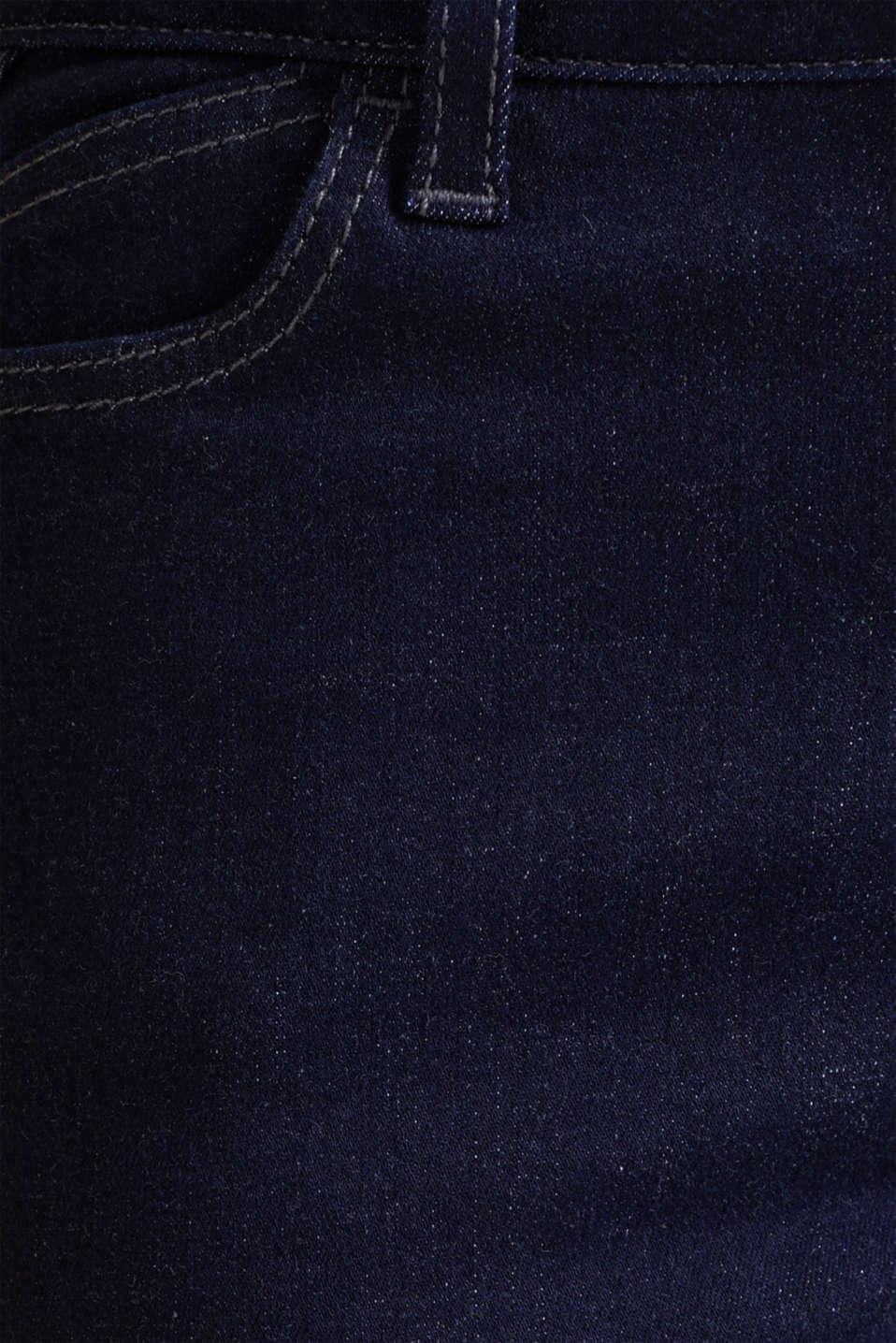 Shaping jeans in dark denim, BLUE RINSE, detail image number 4