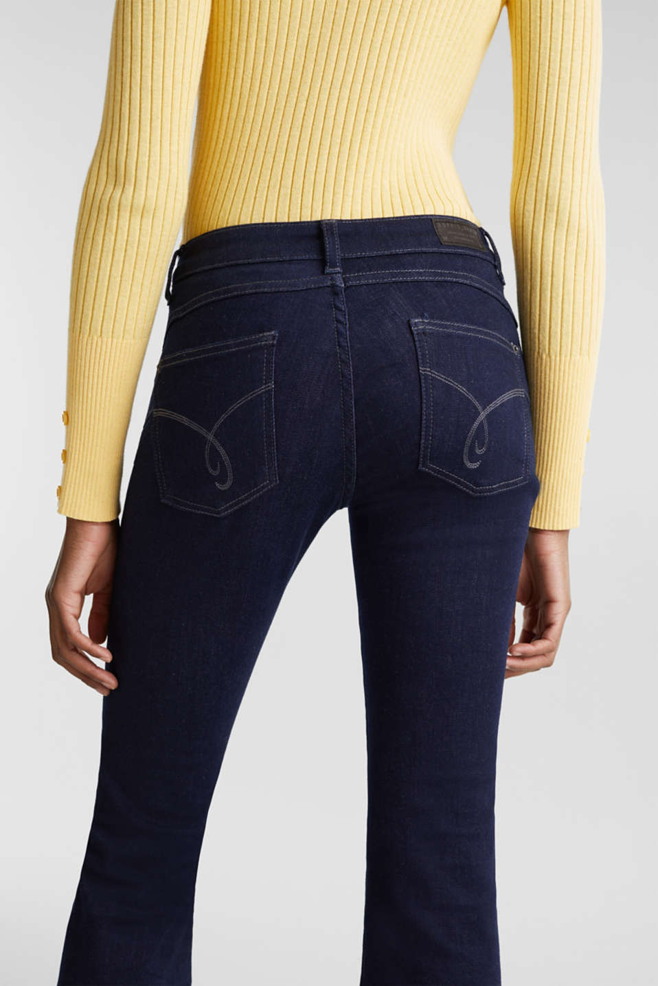 Shaping jeans in dark denim, BLUE RINSE, detail image number 5