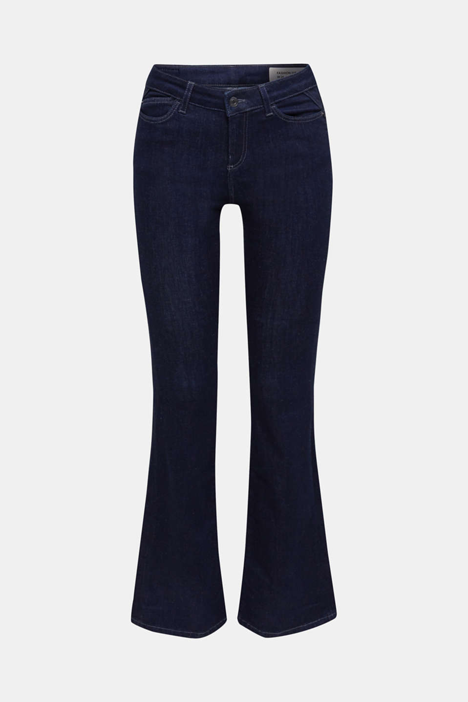 Shaping jeans in dark denim, BLUE RINSE, detail image number 6