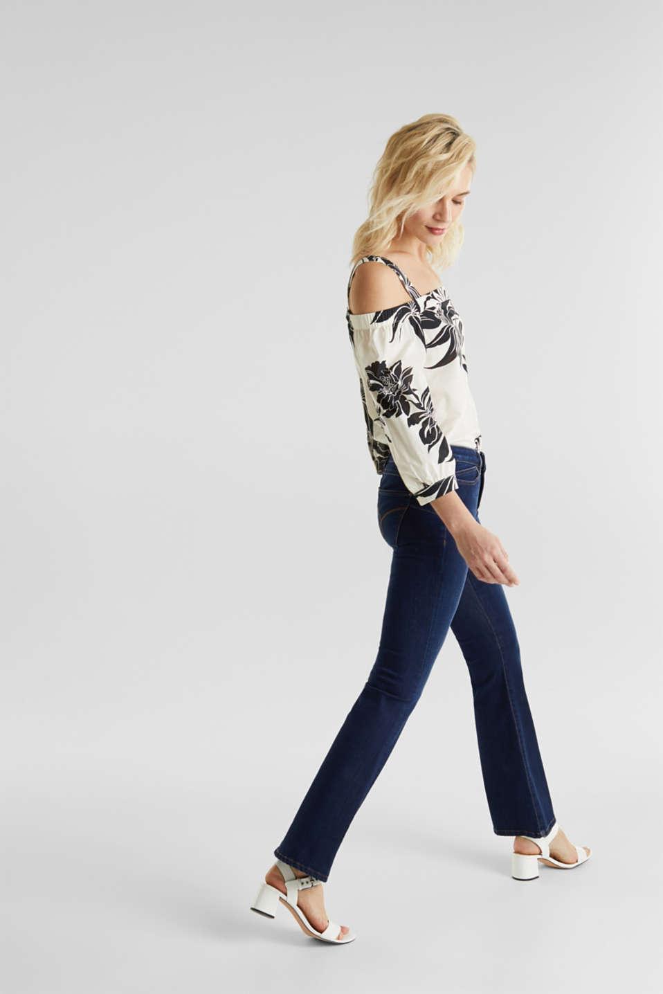Shaping jeans in dark denim, BLUE DARK WASH, detail image number 0