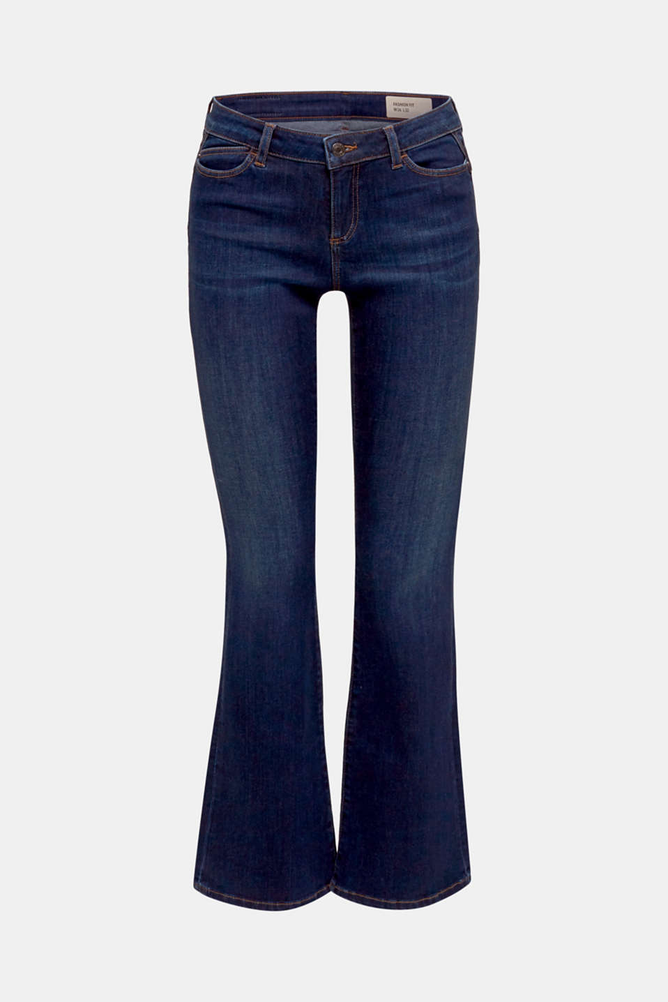 Shaping jeans in dark denim, BLUE DARK WASH, detail image number 4
