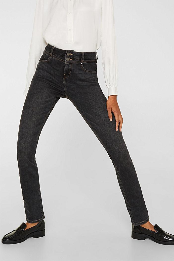 Stretch-Jeans mit Doppelknopf, GREY DARK WASHED, detail image number 6