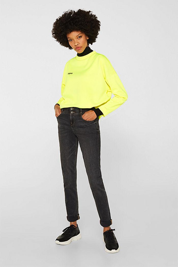 Stretch-Jeans mit Doppelknopf, GREY DARK WASHED, detail image number 7
