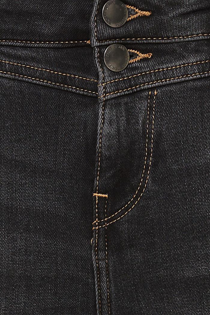 Stretch-Jeans mit Doppelknopf, GREY DARK WASHED, detail image number 4
