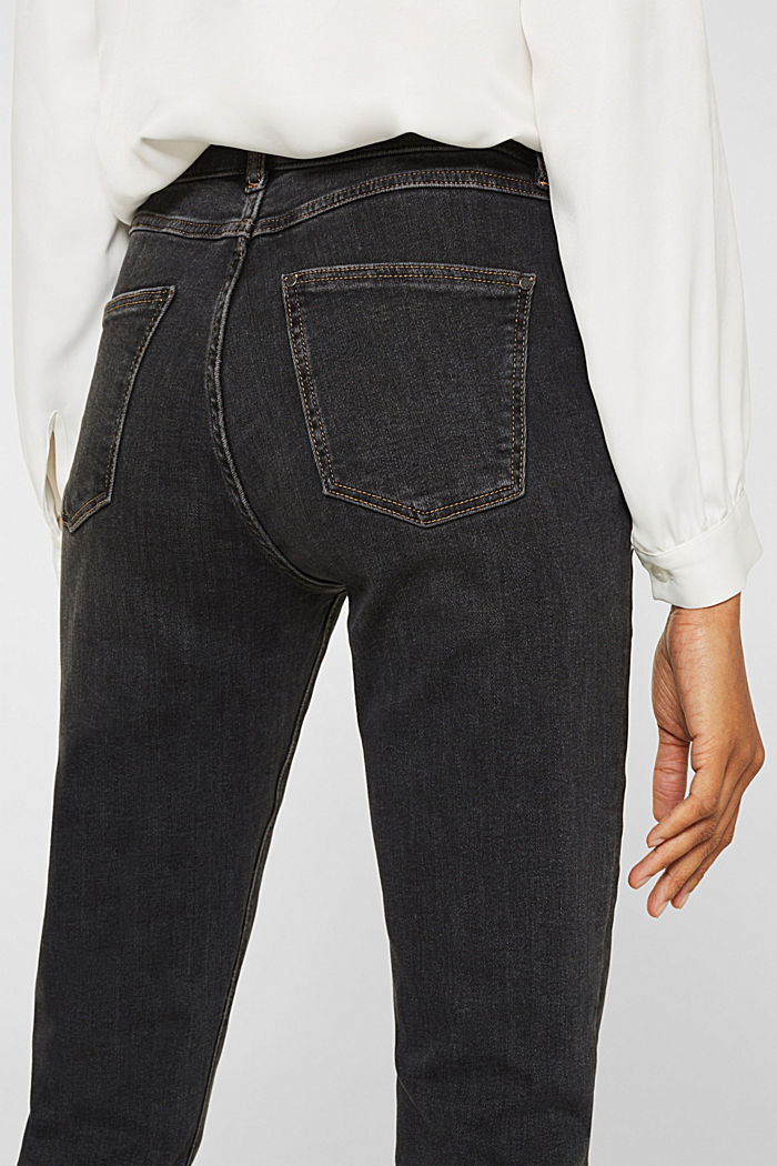 Stretch jeans with double button, GREY DARK WASHED, detail image number 5