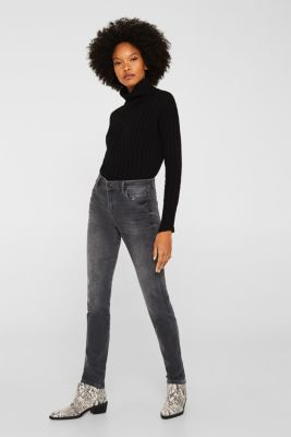 REPREVE stretch jeans with recycled polyester, GREY MEDIUM WASH, detail
