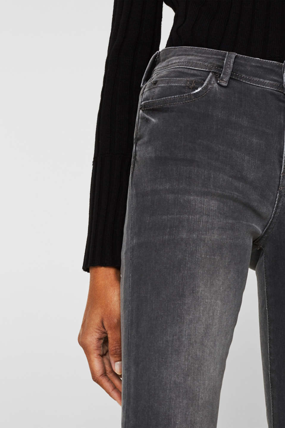 REPREVE stretch jeans with recycled polyester, GREY MEDIUM WASH, detail image number 2