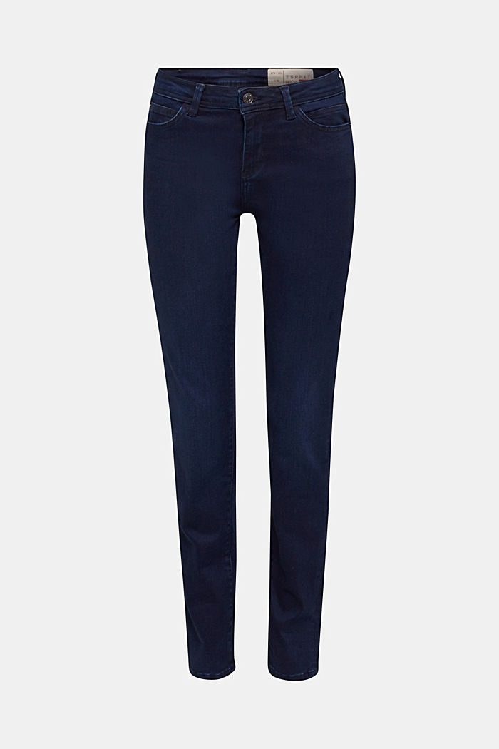 REPREVE stretch jeans with recycled polyester, BLUE DARK WASHED, detail image number 7