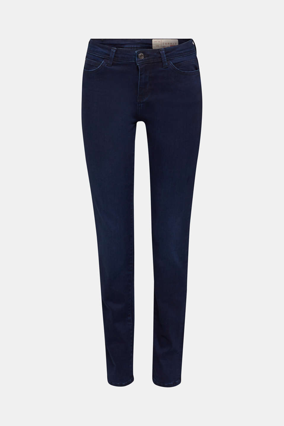 REPREVE stretch jeans with recycled polyester, BLUE DARK WASH, detail image number 7