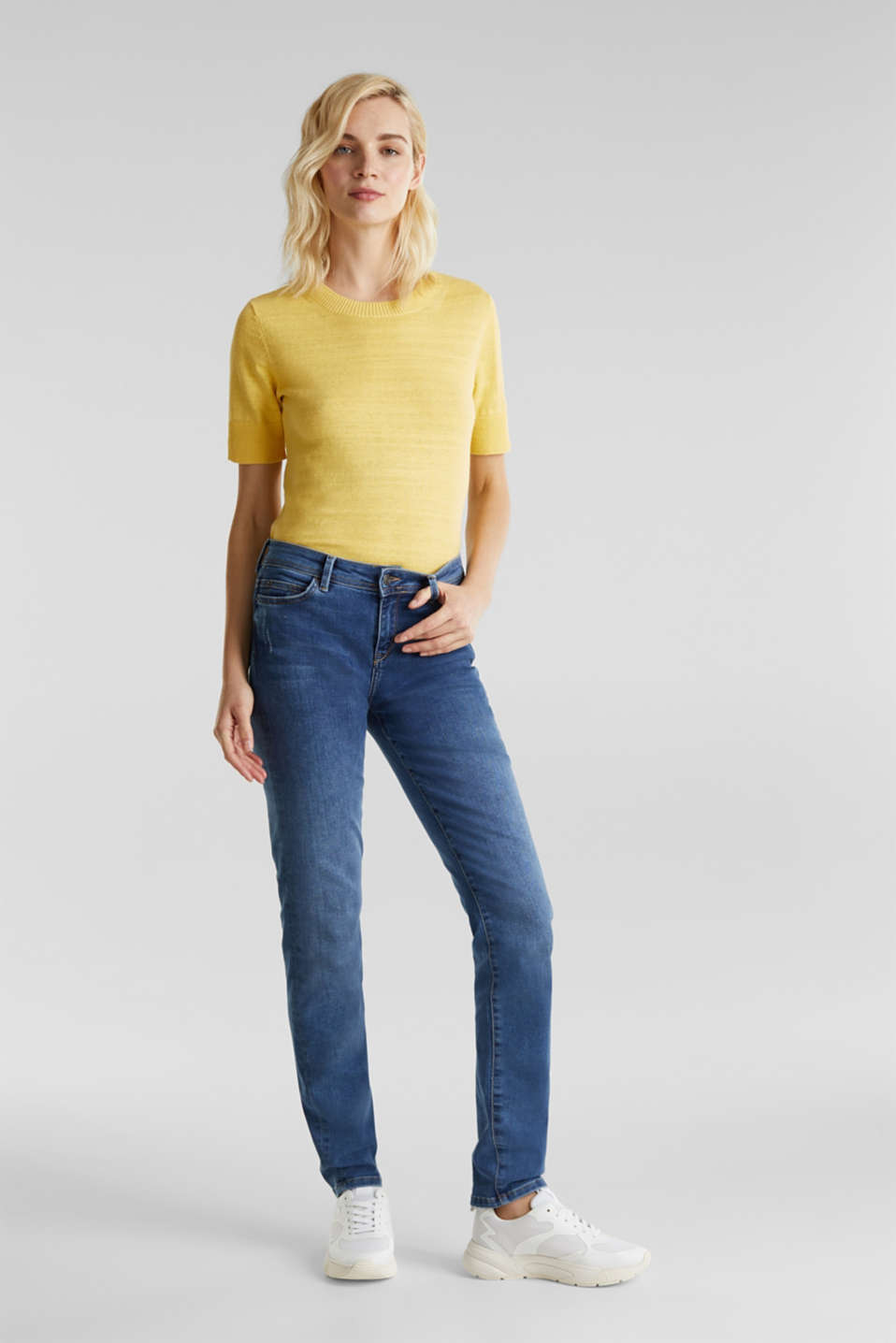 Esprit - REPREVE stretch jeans with recycled polyester