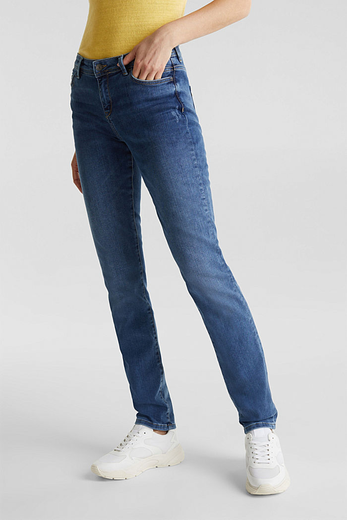 REPREVE stretch jeans with recycled polyester, BLUE MEDIUM WASHED, detail image number 5