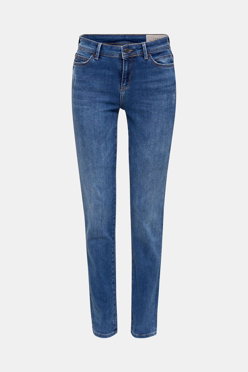REPREVE stretch jeans with recycled polyester, BLUE MEDIUM WASH, detail image number 6