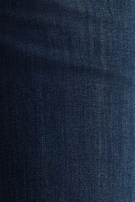 Super stretch jeans with a straight leg, BLUE DARK WASH, detail