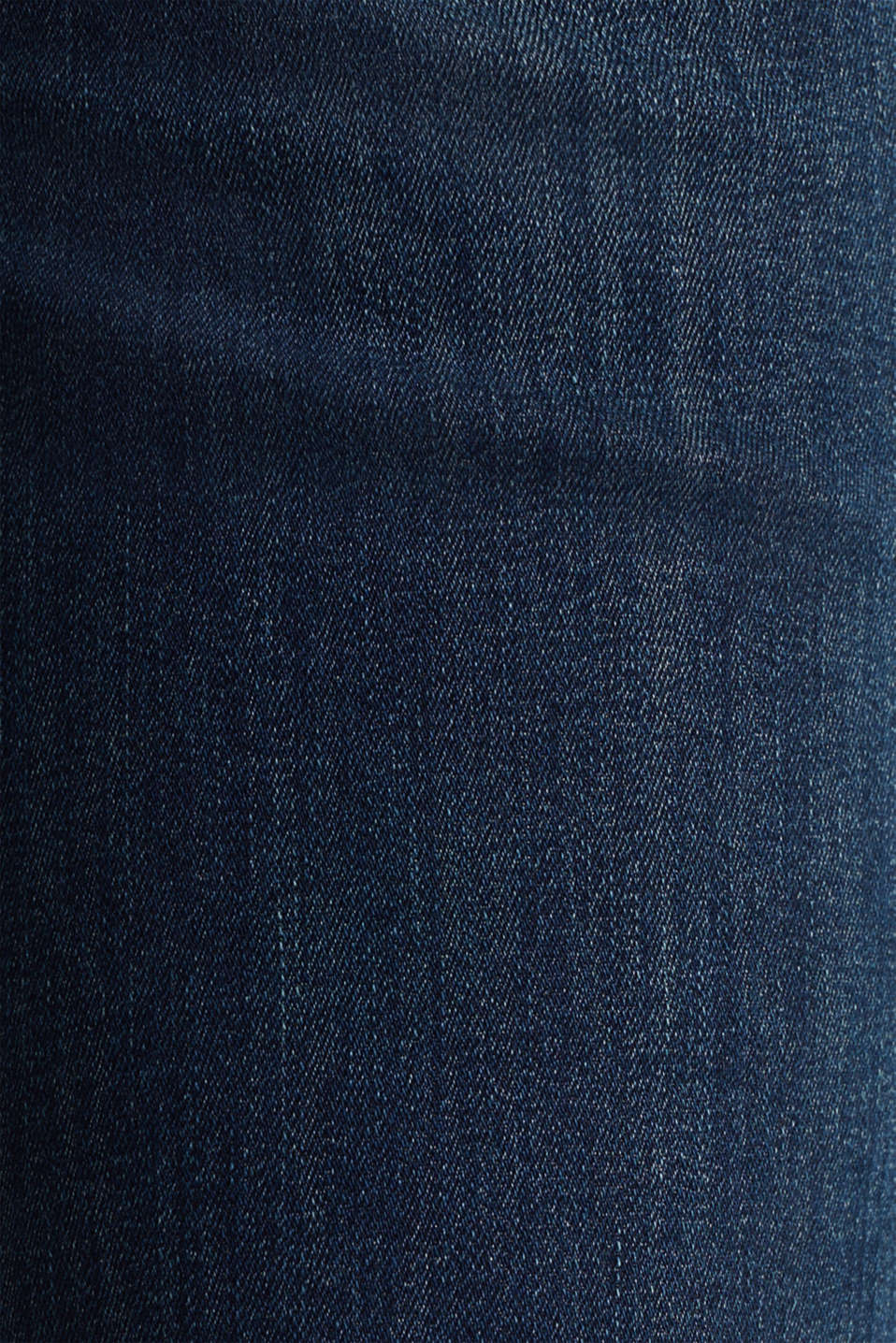 Super stretch jeans with a straight leg, BLUE DARK WASH, detail image number 3