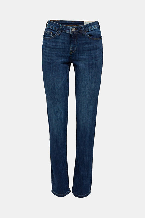 Super stretch jeans with a straight leg