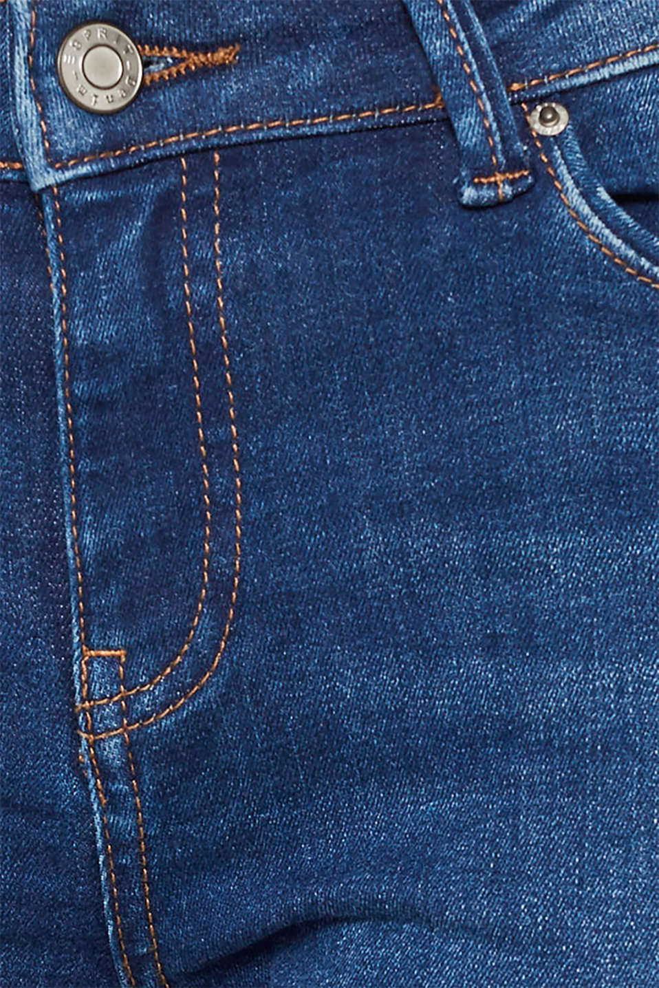 Stretch jeans with a washed effects, BLUE MEDIUM WASH, detail image number 4