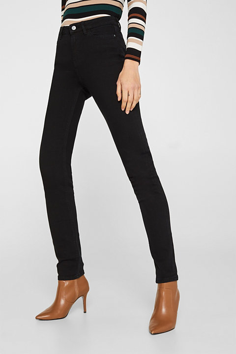 Stretch jeans with a high waistband