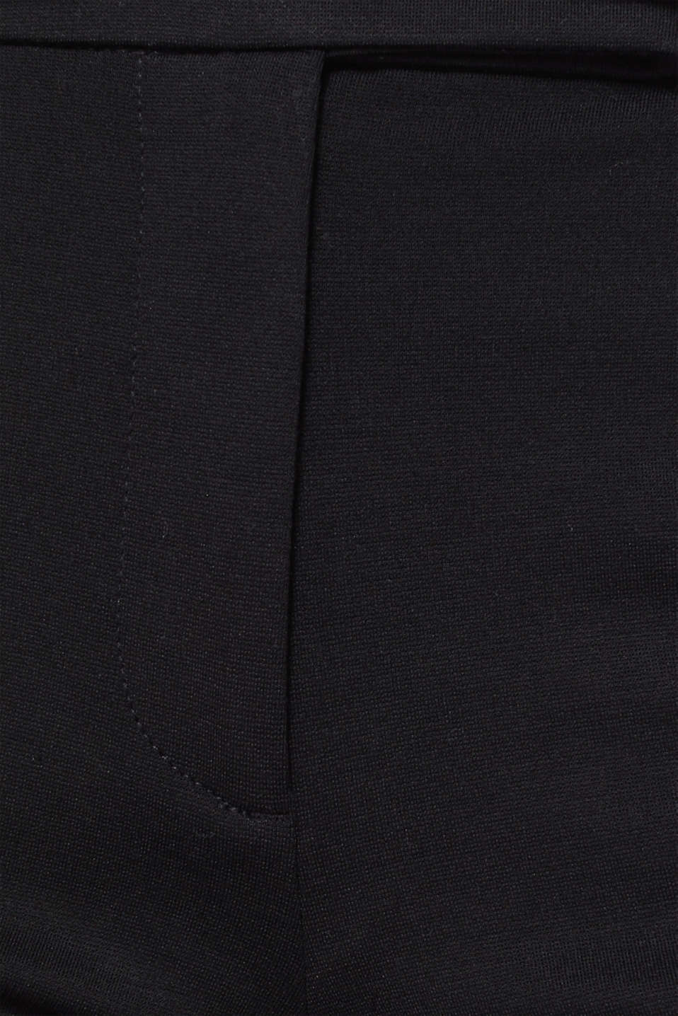Chinos made of compact stretch jersey, BLACK, detail image number 4