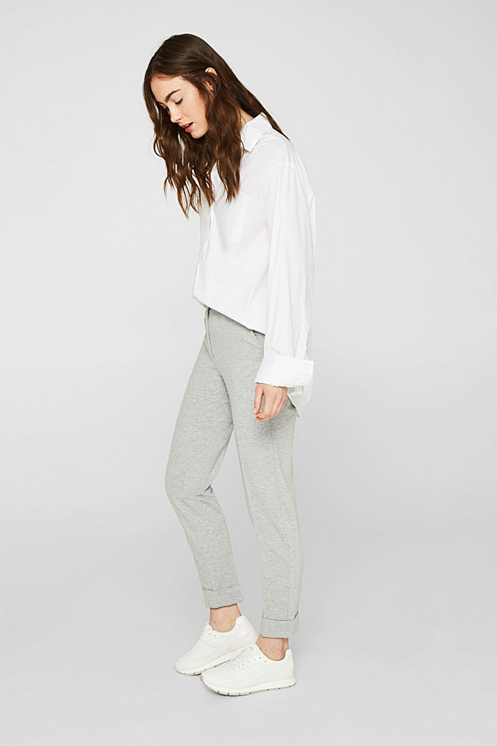 Chinos made of compact stretch jersey