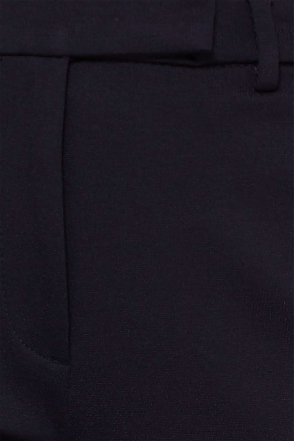 Chinos made of compact stretch jersey, NAVY, detail image number 4
