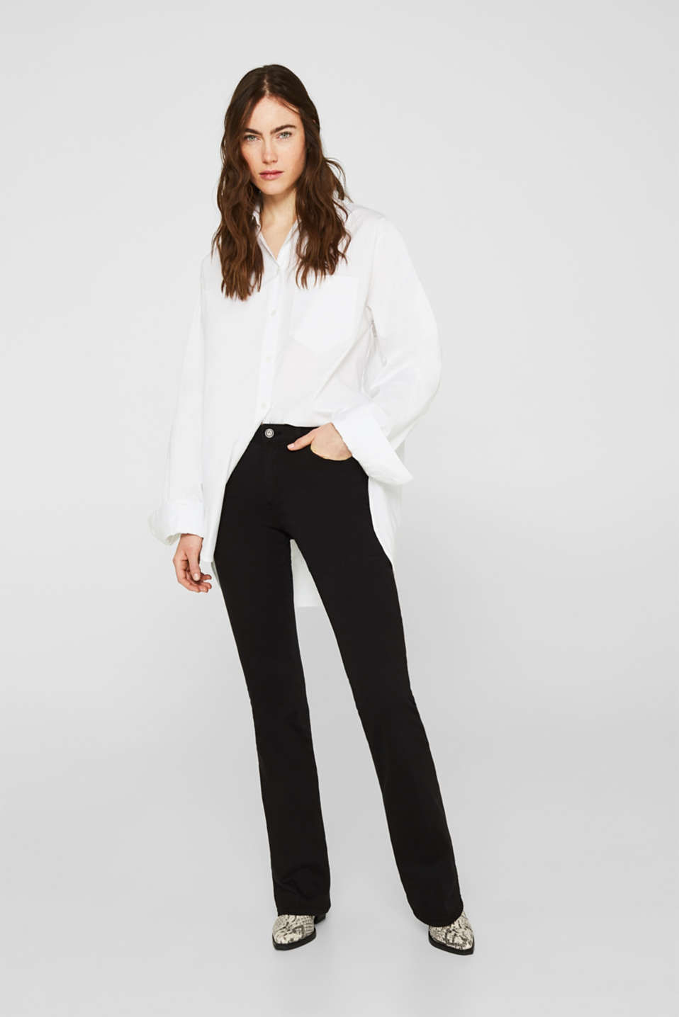 Esprit - Shaping trousers with a great fit