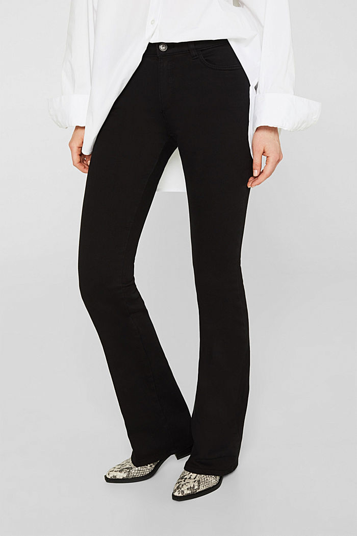 Shaping trousers with a great fit, BLACK, detail image number 6